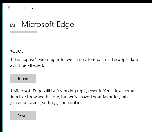 Under Apps and Features when I click modify for Microsoft Edge nothing happens VN0gN.png