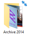 blue arrows in top right corner of every folder and  file icon ???? vPxo9.png