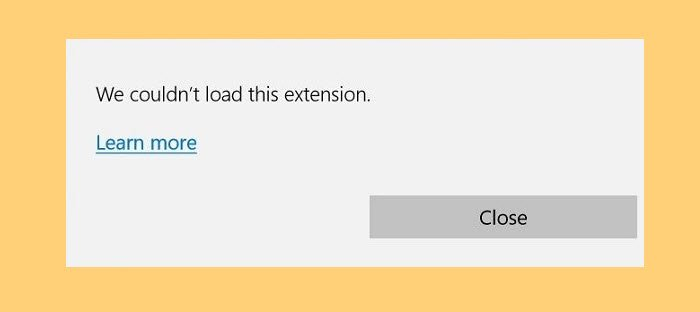 Fix We couldn't load this extension error in Microsoft Edge we-couldnt-load-this-extension.jpg