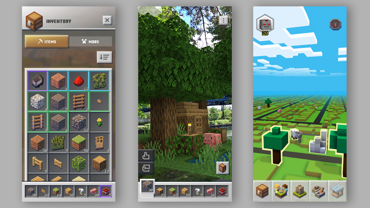 Minecraft Earth skin WhatToExpect_phonescreens2_July11_1280x720.jpg
