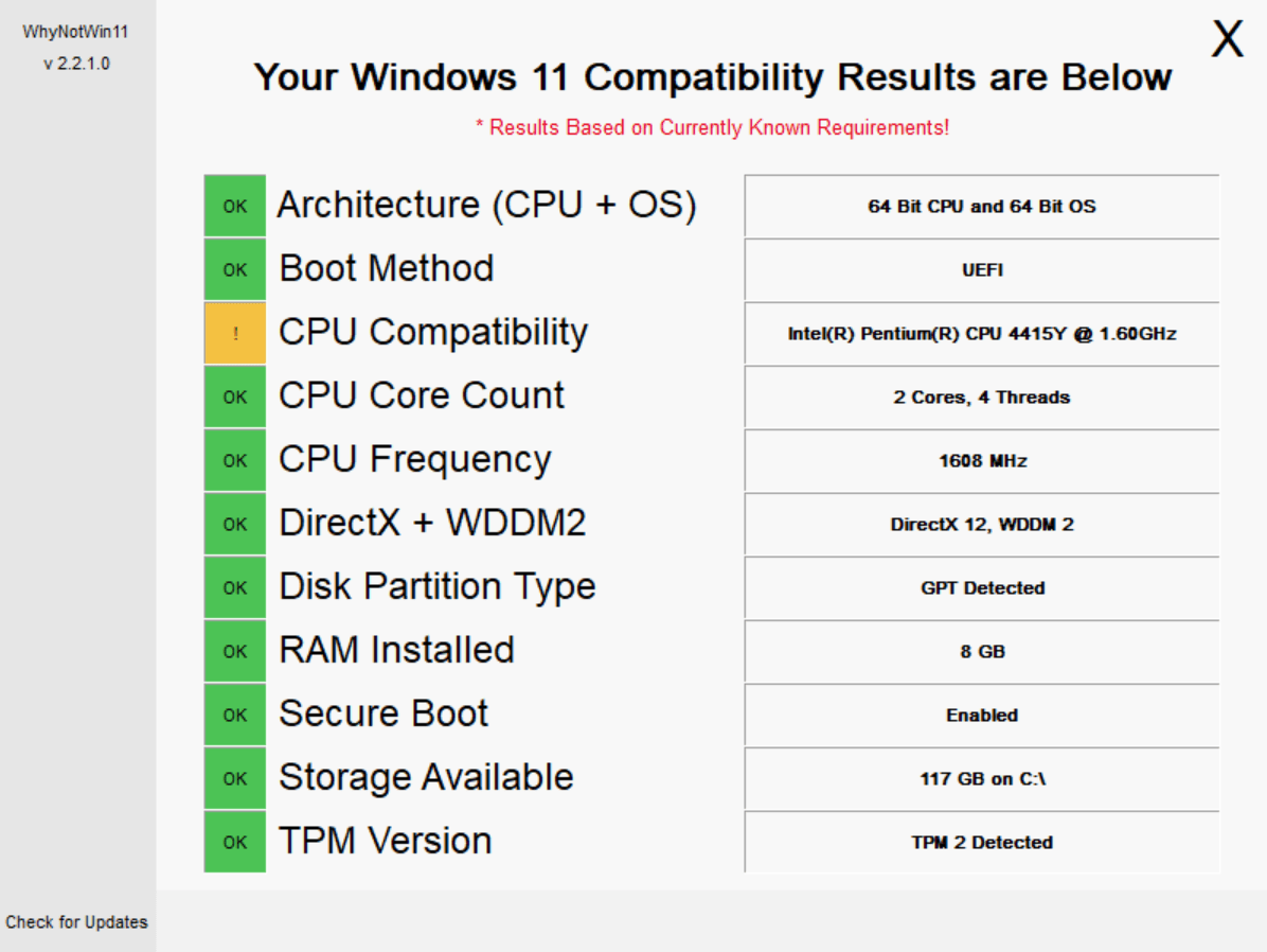 Your PC is not compatible with Windows 11? Here are your options! whynotwin11.png