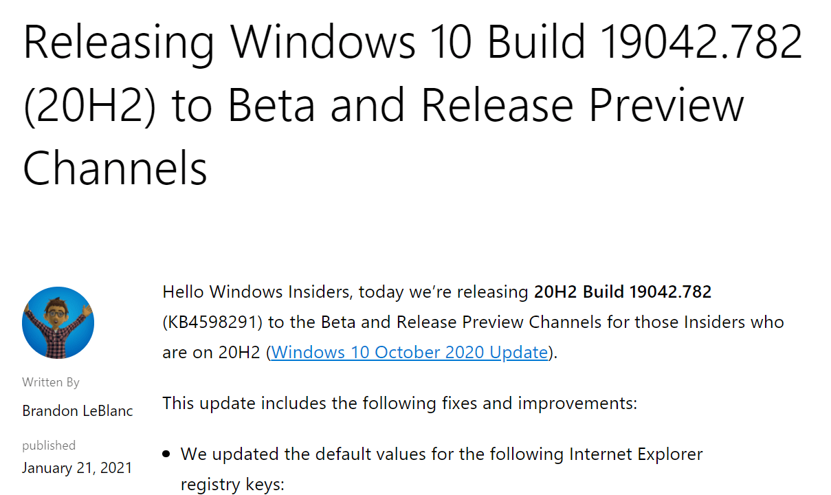 Microsoft set to reverse Feature Update releases in 2021 windows-10-21h1.png
