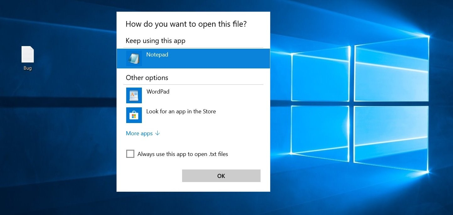 Microsoft confirms File Association bug in Windows 10 Windows-10-association-bug.jpg