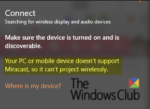 Your PC doesn't support Miracast – Windows 10 error Windows-10-error-Your-PC-doesnt-support-Miracast-150x109.png