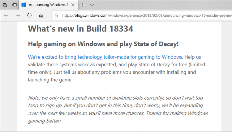 Microsoft: help us test new gaming tech on Windows 10 1903 but we don't tell you anything... windows-10-gaming.png