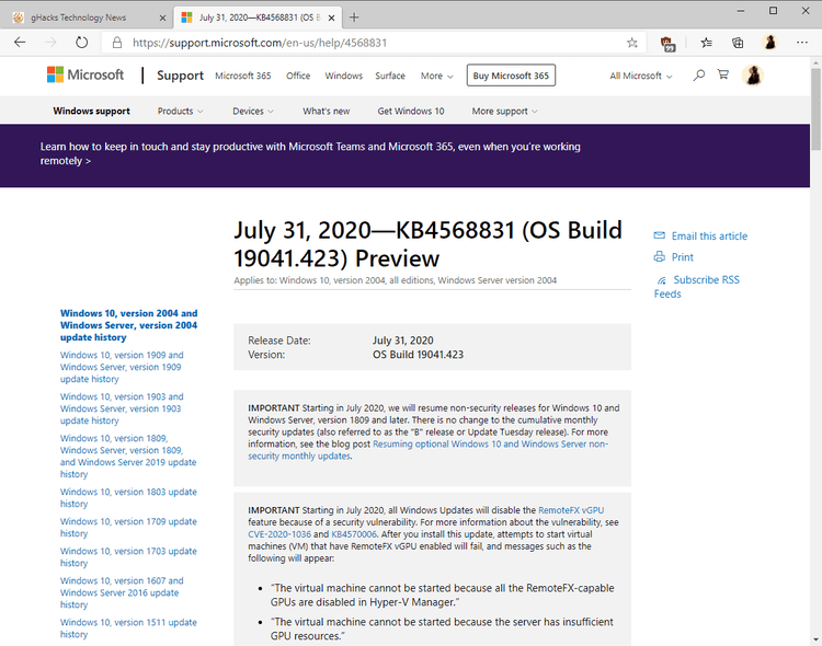 Windows 10 version 2004 update KB4568831 released windows-10-KB4568831-update.png