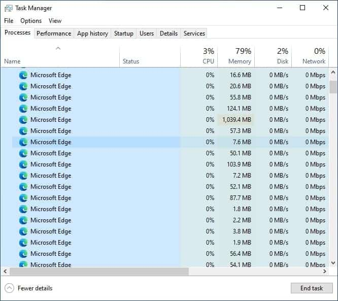 Windows 11's Task Manager now displays the site name, icon, tab title for Microsoft Edge... Windows-10-Microsoft-Edge-processes.jpg