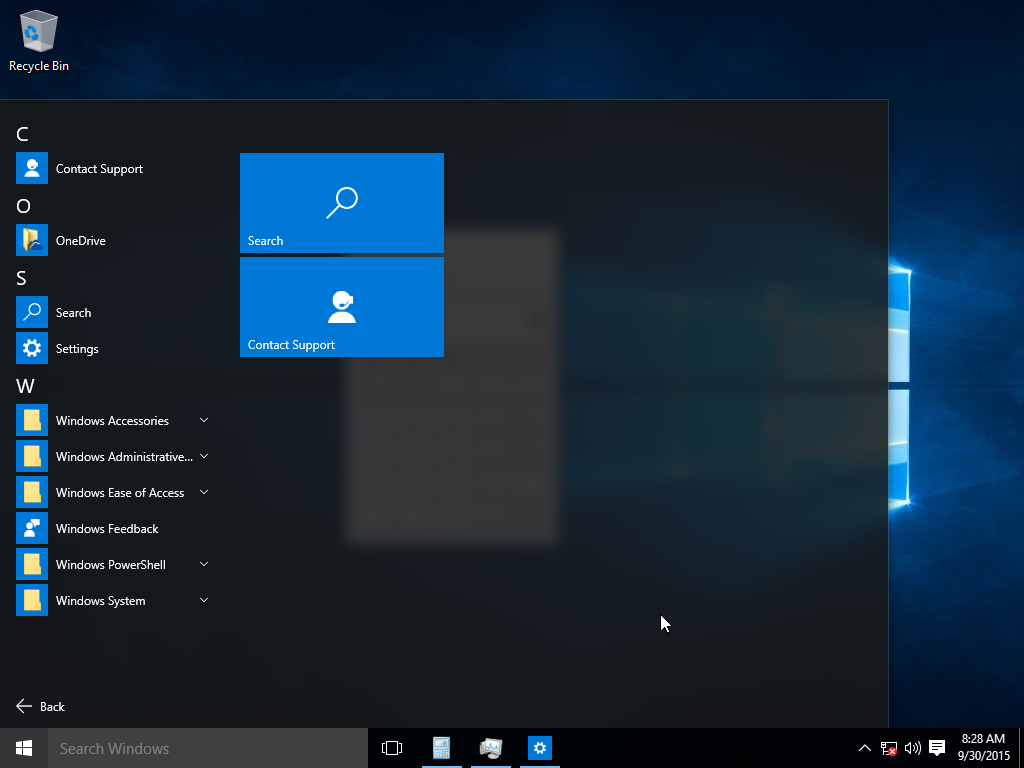 What is new in Skype for Windows 10 PCs windows-10-start-menu.png