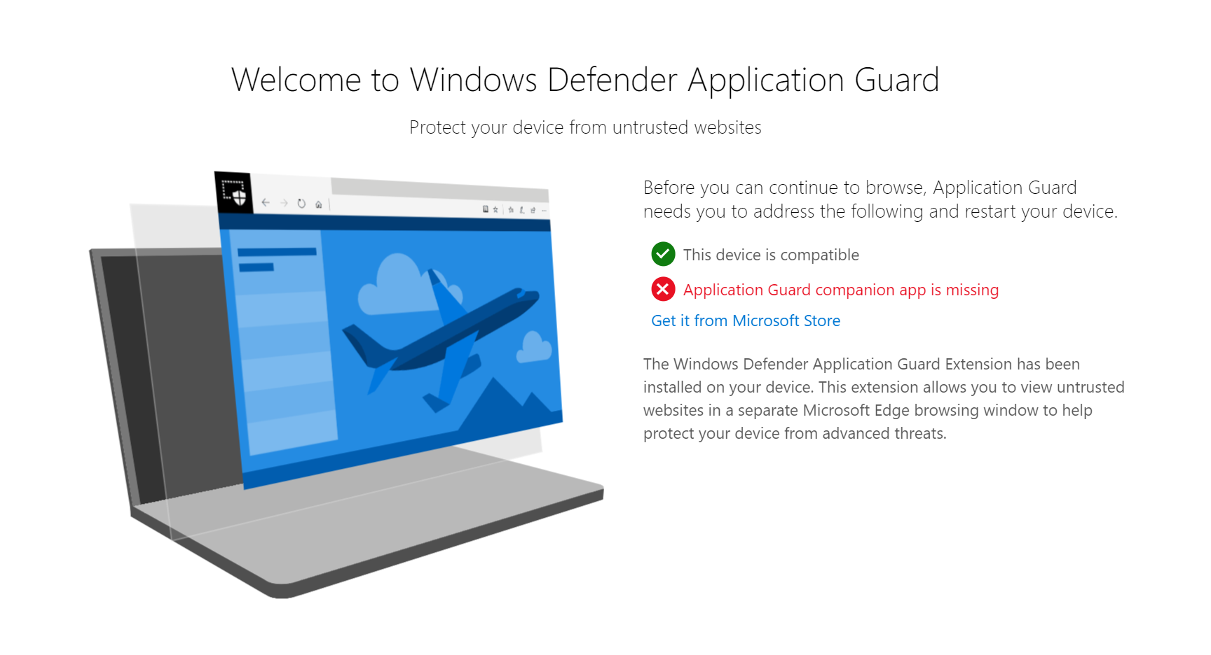 Turn On Advanced Graphics in Application Guard for Microsoft Edge windows-defender-application-guard-components-not-complete.png