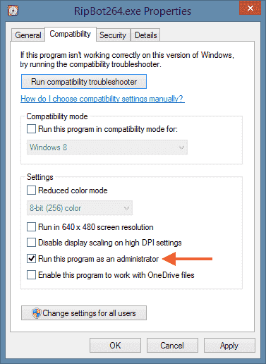 Not recognized as administrator windows-run-as-administrator-default.png