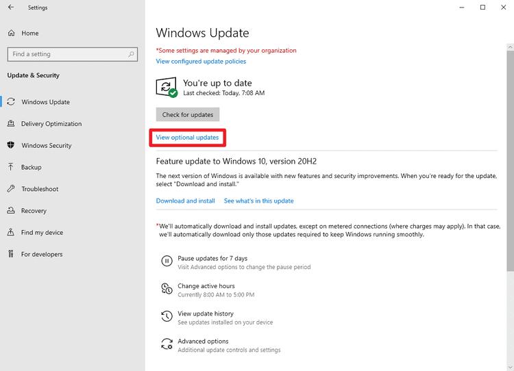 New Windows 10 Manual Driver Updates process starts on November 5, 2020 windows-update-view-optional-updates.png