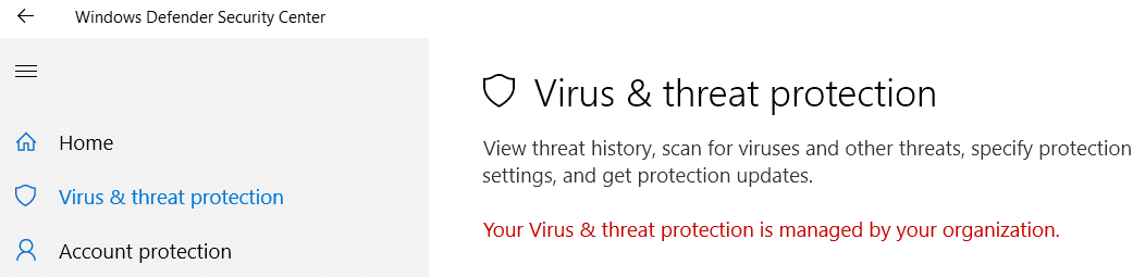 """CAN'T ACTIVATE WINDOWS DEFENDER.....""""SECURITY AT A GLANCE"""" IS BLANK.... """"VIRUS & THREAT... wm5Jc.png"""