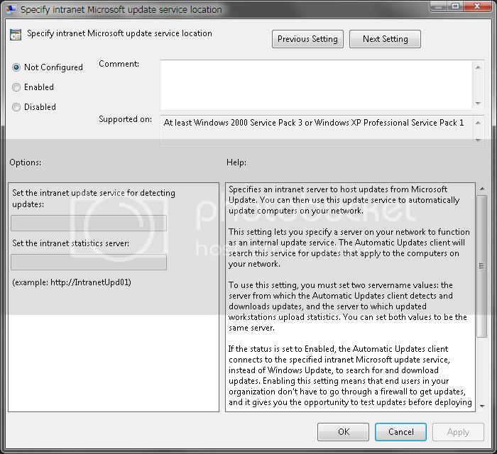 Why can't I get Windows Update controls on Windows 10 like WSUS has for many years? WSUSsetup02.png