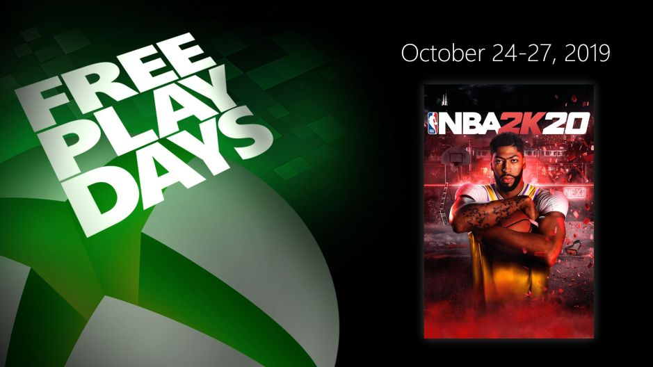 NBA 2k20 Choq's Fresh Pack error processing purchase XBL_Free-Play-Days_102419_1920x1080-Wire_NBA2K20.jpg