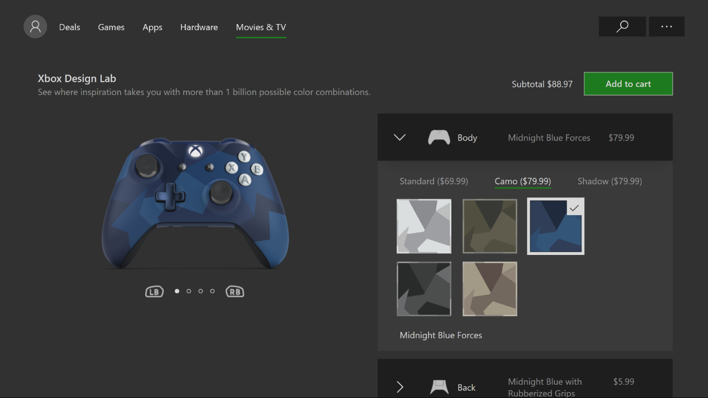 My shopping cart is Broken after adding Xbox controller from design lab xdl3.png