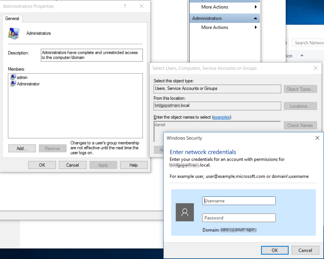 Windows 10 Local Administrators Group AND Active Directory Domain Admins Group xGCVL.png