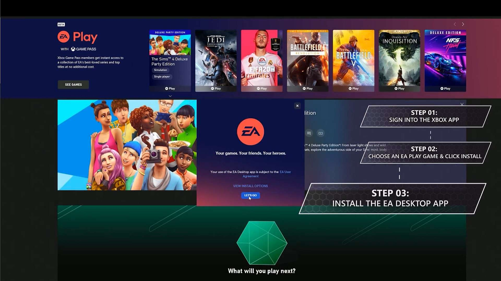 I bought Xbox gamepass ultimate and I cant play any of the EA games? XGPCommunityStep3.jpg