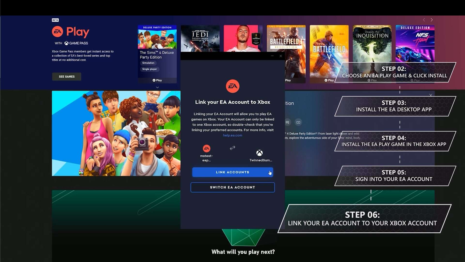 I bought Xbox gamepass ultimate and I cant play any of the EA games? XGPCommunityStep6.jpg