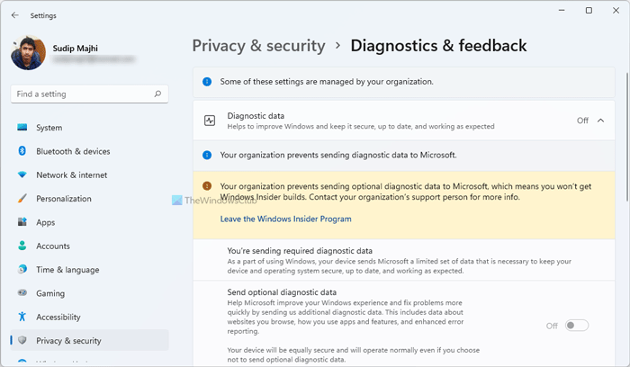 Your organization prevents sending optional diagnostic data to Microsoft your-prganization-prevents-sending-optional-diagnostic-data.png